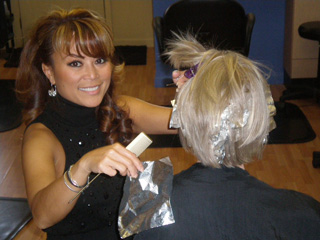 Nika's Hair Studio Foiling Ellicott City Salon